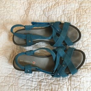 Merrell Revalli Cross Suede Sandals 9